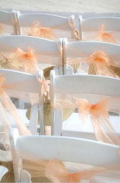 Peach sashes on a gentle breeze