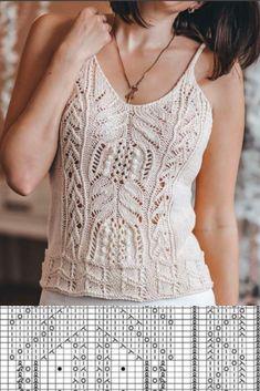 Crochet Summer Tops, Summer Knitting, Knitting Dolls Clothes, Crochet Clothes, Crochet Blouse, Knit Crochet, Lace Knitting Patterns, Sewing Patterns, Crochet Fashion