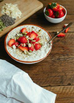 Strawberry coconut oatmeal