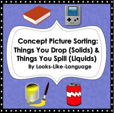 Concept Picture Sorting- Reinforce learning with this fun file folder sorting task for verbs or science concepts! $