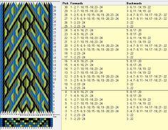 24 tarjetas, 4 colores, repite cada 8 movimientos // sed_260 diseñado en GTT༺❁