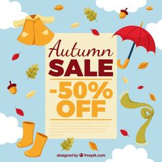 Image result for autumn sale Sale 50, Vector Free, Autumn, Image, Design, Fall, Design Comics