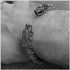 VIKING WOLF BRACELET. Fenrir Bracelet Vikings Jewelry. by RuyaN