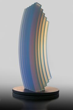 Artist: Mark Peiser Title: Etude Tableau 6 Process: Hot cast phase separated glass Size: 22.5 x 7.5 x 34.75 Inches Year: 2015 Please contact the gallery for pricing  Habatat Galleries 248.554.0590 – info@habatat.com