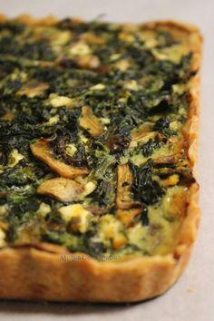 Mi Diario de Cocina | Tarta de espinacas, champiñones y queso | http://www.midiariodecocina.com