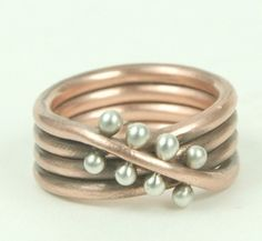 Endless Connection - Copper Sterling Silver Ring