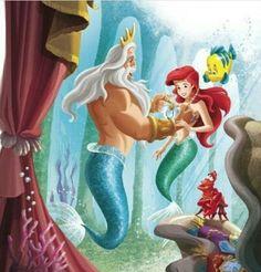 Ariel and king triton Disney Princess Ariel, Mermaid Disney, Princesa Disney, Mermaid Art, Ariel Mermaid, Arte Disney, Disney Magic, Disney Art, Disney Films
