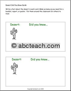 Did You Know? Desert - preview 1