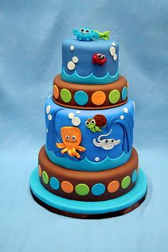 Under the Sea Critters Cake
