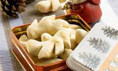German Cookies, Christmas Cooking, Soul Food, Cookie Recipes, Bakery, Bread, Cheese, Form, Desserts