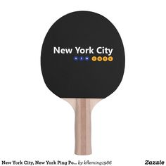 New York City, New York Ping Pong Paddle
