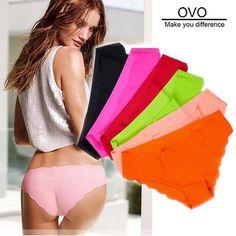 OVO!Shorts women 2014 new panties girl fashion briefs lady underwear sex Lace Ultra-thin No trace Leopard 3pcs/lot free shipping $5.10 - 7.58