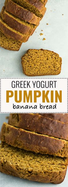 Healthy pumpkin banana bread recipe made with greek yogurt. A delicious pumpkin … Healthy pumpkin banana bread recipe made with greek yogurt. A delicious pumpkin dessert or breakfast made without any oil or butter and naturally sweetened. Pumpkin Banana Bread, Healthy Banana Bread, Healthy Bread Recipes, Banana Bread Recipes, Healthy Pumpkin Desserts, Healthy Pumpkin Bread, Thm Recipes, Vegan Pumpkin, Le Chef
