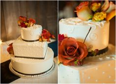 Country wedding cake with flowers