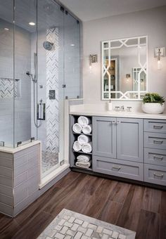 Modern Bathroom Remodel Ideas - Every bathroom remodel begins with a design suggestion. From typical to modern to beach-inspired, bathroom design alternatives are unlimited. Our gallery showcases bathroom makeover ideas. Bad Inspiration, Bathroom Inspiration, Bathroom Renovations, Bathroom Makeovers, Master Bathroom Remodel Ideas, House Renovations, House Remodeling, Basement Bathroom Ideas, Bathroom Vanity Makeover