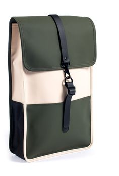 RAINS Beige and Green Water-Resistant Rucksack - Sale - ShopStyle Backpacks My Bags, Purses And Bags, Fashion Bags, Mens Fashion, Sacs Design, Waterproof Backpack, Backpack Bags, Rains Backpack, Rains Bag