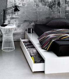 black and grey color scheme with throw blanket with color