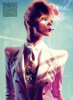 Model : Alek Alexeyeva - Michelangelo Di Battista, Italian Vogue - June 2009