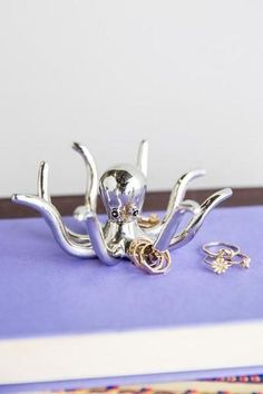 This elegant octopus ring holder. | 37 Beautiful Household Items Every Ocean Lover Needs
