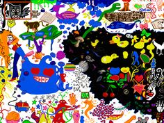 creative #bathduck #artwork in  #fingerpiantworld,kids from all over the world drawing together