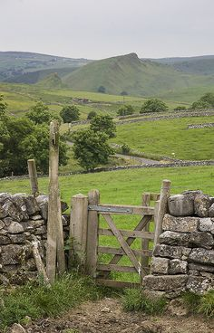 wanderthewood:  Walking through the fields towards Earl Sterndale with Chrome Hill in the background, Derbyshire, England by l4ts