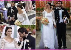 Swedish Princess Sofia's Stunning Wedding Dress and guest arrival