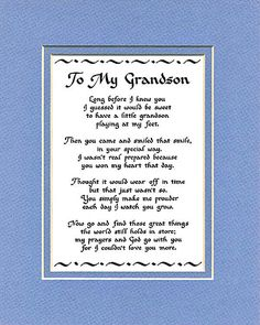 Landon Grandson Birthday Wishes Verses Mother Poems Mothers Day Family