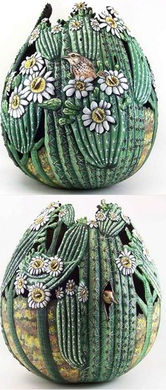 OF MICE AND raMEN: Carved Gourds By Phyllis Sickles