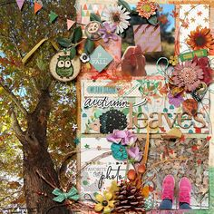 pink-reptile-designs-Studio-Basic-designs-Autumn-trails Journal Cards, Reptiles, Autumn Leaves, Digital Scrapbooking, How To Find Out, Layout, Seasons, Make It Yourself, Studio
