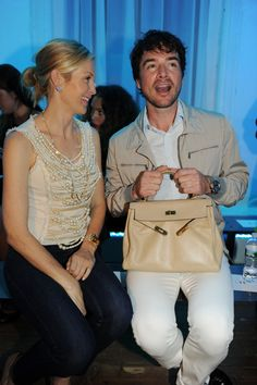 Kelly Rutherford and Matthew Settle at QVC Fashion Week show
