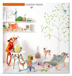 """""""Nursery Trend - Animal Kingdom"""" by lidia-solymosi ❤ liked on Polyvore featuring interior, interiors, interior design, home, home decor, interior decorating and Sew Heart Felt"""