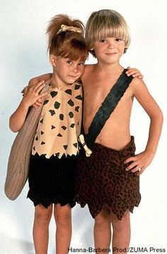 How I wish E & W lived closer together! This would be great for Halloween! :) Pebbles and Bam Bam how to for costumes