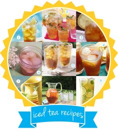 "Iced tea recipe roundup and free printable beverage recipe card on the 2junebugs.com ""juneBLOG"" today!"