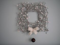 """Square"" Wreath.....with some Silver Eucalyptus"
