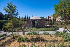 As well as installing the pavilion, Caravne Earth also commissioned landscape architect Todd Longstaffe-Gowan to redesign the gardens where it is set. Places Around The World, Around The Worlds, Venice Beach House, Bamboo Structure, Bamboo Architecture, California Homes, Asian Art, Pavilion, House Design