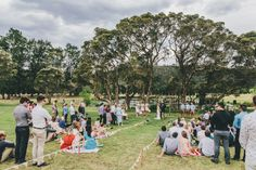 Doing a casual outdoor wedding? Give your guests blankets to sit on while they wait for the ceremony (and some lemonade!) and they can stand for the ceremony itself. Great way to save money on chairs and do a picnic style wedding.