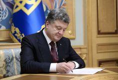 Poroshenko signed a free trade zone between Canada and Ukraine