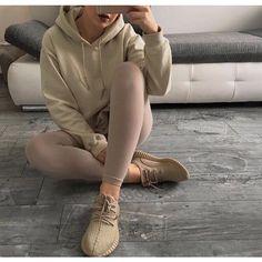 Nude Oversized Hoodie ($100) ❤ liked on Polyvore featuring tops, hoodies, oversized hoodie, oversized hoodies, brown tops, sweatshirt hoodies and brown hoodie