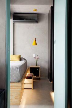 Apartamento de 42m² tem marcenaria onde tudo se encaixa #hogarhabitissimo