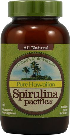 Nutrex Hawaii Pure Hawaiian Spirulina Pacifica  Supports cardiovascular health  Supports eye & brain health  Boosts energy  Boosts immunity