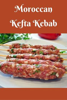 Kefta is ground beef or lamb, mixed with a variety of herbs and spices. Kefta makes a superb kebab and is the foundation of other Moroccan dishes. Greek Recipes, Meat Recipes, Indian Food Recipes, Cooking Recipes, Ethnic Recipes, Beef Kabob Recipes, Healthy Recipes, Kefta Kebab Recipe, Salads