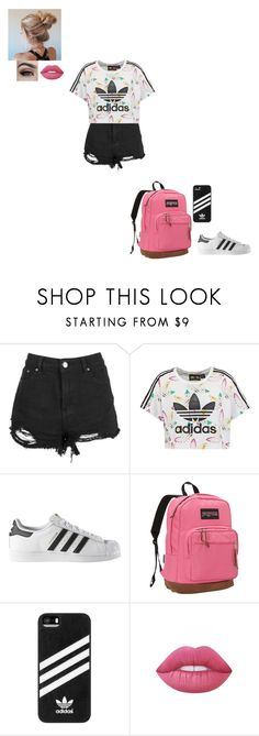 """""""where do i begin"""" by gabby-1606 on Polyvore featuring adidas Originals, adidas, JanSport and Lime Crime"""