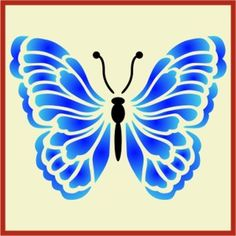 Airbrush Crafting Canvas decor Wall art Reusable Butterfly Trio Stencil