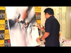 Abstract Painting / Live Demo / Sorry for the poor Camera angle/ Still felt like sharing - YouTube