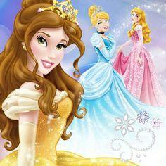 Aurora, Belle and Cinderella