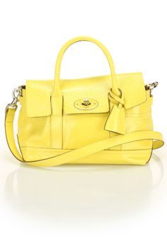 Mulberry Holiday Small Bayswater Satchel In Lemon Sherbert - Beyond the Rack