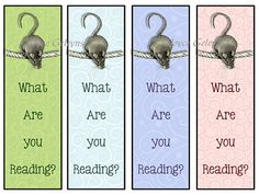 Printable Bookmarks Cute Mouse on A Rope asking What Are You Reading? by joyart, $3.00