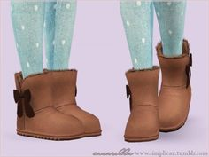 Fuzy warm winter boots by Sim pli Caz These are so cute! #sims3cc