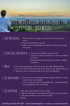 5 Simple meditation techniques you can do anytime, anywhere. Simple Meditation, Meditation Techniques, Simple Way, 5 Ways, You Can Do, Something To Do, Breathe, Learning, Teaching