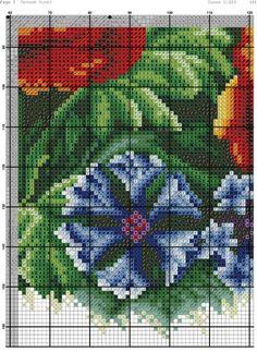 Вышивка крестом летний букет. Вышивка крестом цветы бесплатные схемы